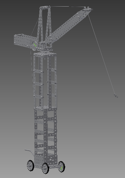 Tower Crane Inventor : Entries for make it real cad engineering challenge